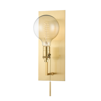1 LIGHT WALL SCONCE (1651-AGB)