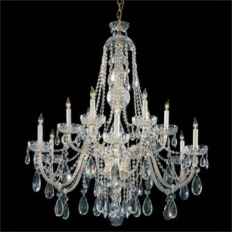 Traditional Crystal 12 Light Polished Brass Hand Cut Crystal Chandelier (205|1114-PB-CL-MWP)