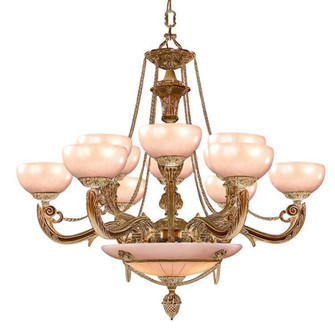 Natural Alabaster 12 Light French White Chandelier (205 969-WH)