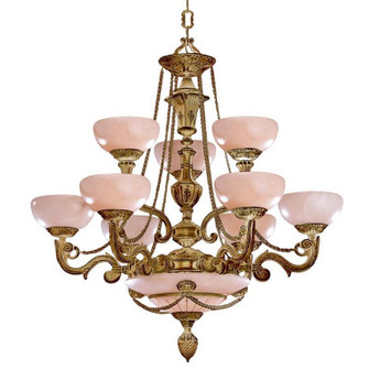 Natural Alabaster 9 Light French White Chandelier (205 968-WH)