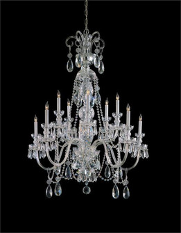 Traditional Crystal 10 Light Polished Chrome Hand Cut Crystal Chandelier (205|5020-CH-CL-MWP)