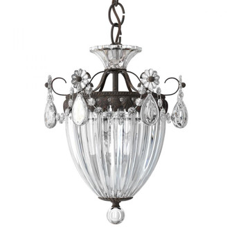 Bagatelle 3 Light Traditional Pendant in Heirloom Bronze with Clear Crystals From Swarovski (168|1243-76S)