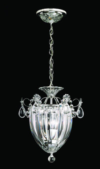 Bagatelle 3 Light Traditional Pendant in Polished Silver with Clear Crystals From Swarovski (168 1243-40S)