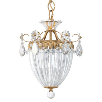 Bagatelle 3 Light Traditional Pendant in French Gold with Clear Crystals From Swarovski (168 1243-26S)