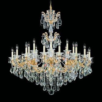 La Scala 24 Light Traditional Chandelier in Parchment Gold with Clear Crystals From Swarovski (168|5013-27S)