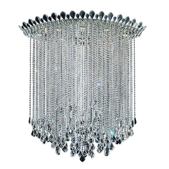 Trilliane Strands 8 Light Contemporary Semi-flush in Polished Stainless Steel with Clear Heritage (168 TR4803N-401H)