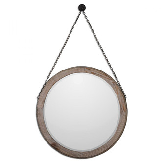 Uttermost Loughlin Round Wood Mirror (85|07656)
