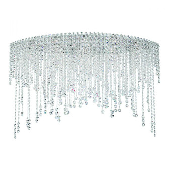Chantant 8 Light Contemporary Semi-flush in Polished Stainless Steel with Clear Heritage Crystal (168 CH4802N-401H)