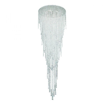 Chantant 6 Light Contemporary Semi-flush in Polished Stainless Steel with Clear Heritage Crystal (168 CH2403N-401H)