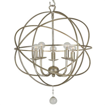 Solaris 5 Light Olde Silver Mini Chandelier (9224-OS)