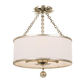 Broche 3 Light Antique Silver Ceiling Mount (205|513-SA_CEILING)