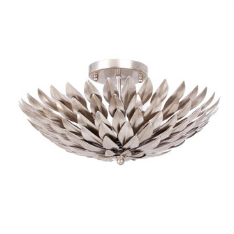 Broche 4 Light Antique Silver Ceiling Mount (205|505-SA)