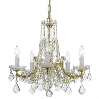Traditional Crystal 5 Light Gold Mini Chandelier (205 4576-GD-CL-MWP)