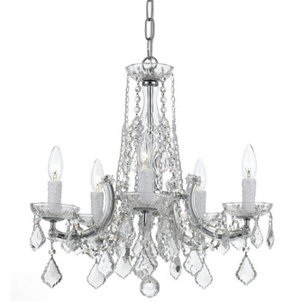 Traditional Crystal 5 Light Chrome Chandelier (205|4576-CH-CL-MWP)