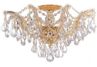Maria Theresa 5 Light Clear Crystal Gold Semi-Flush (205|4437-GD-CL-S)
