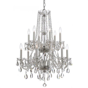 Traditional Crystal 12 Light Clear Crystal Chrome Chandelier (205|1137-CH-CL-MWP)