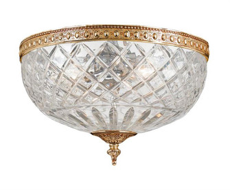 Crystorama 3 Light Brass Crystal Ceiling Mount (205|117-12-OB)