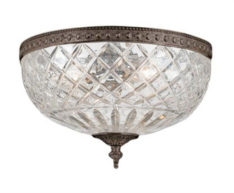 Crystorama 3 Light Bronze Crystal Ceiling Mount (205|117-12-EB)