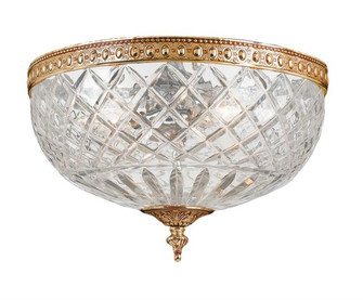 Crystorama 2 Light Brass Crystal Ceiling Mount II (205|117-10-OB)