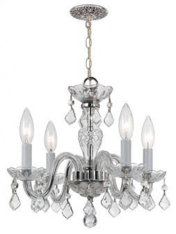 Traditional Crystal 4 Light Clear Crystal Chrome Mini Chandelier (205 1064-CH-CL-MWP)