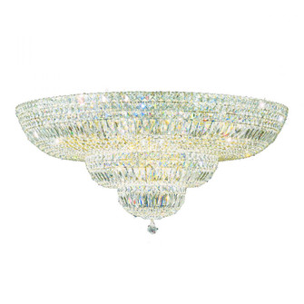 Petit Crystal Deluxe 27 Light Traditional Flush in Aurelia with Clear Crystals From Swarovski (168 5896-211S)