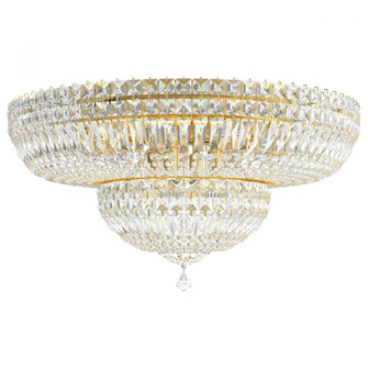 Petit Crystal Deluxe 13 Light Traditional Semi-flush in Aurelia with Clear Crystals From Swarovski (168 5895-211S)