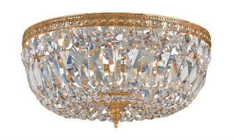 Crystorama 3 Light Golden Teak Swarovski Strass Cut Brass Ceiling Mount (205|712-OB-GT-S)