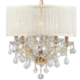 Brentwood 6 Light Elements Crystal Gold Drum Shade Chandelier (205 4415-GD-SAW-CL-S)