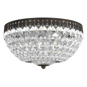 Petit Crystal 5 Light Traditional Flush in Heirloom Bronze with Clear Spectra Crystal (168|1562-76A)
