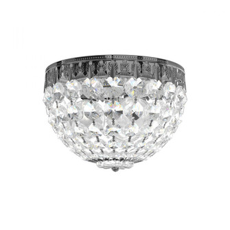 Petit Crystal 3 Light Traditional Flush in Polished Silver with Clear Spectra Crystal (168|1558-40A)