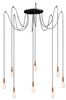 Early Electric 8-Light Pendant (19 12128BKAB)