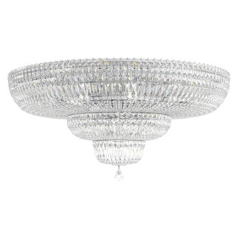 Petit Crystal Deluxe 27 Light Traditional Flush in Polished Silver with Clear Crystals From (168 5896-40S)