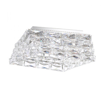 Glissando 5 Light Contemporary Semi-flush in Stainless Steel with Clear Crystals From Swarovski (168|STW710N-SS1S)