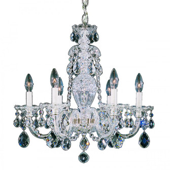 Sterling 6 Light Traditional Chandelier in Polished Silver with Clear Heritage Crystal (168 2994-40H)