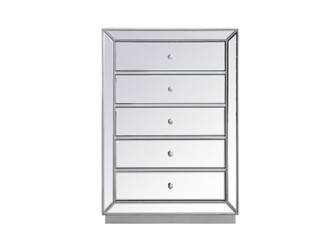 34 inch mirrored chest in antique silver (758 MF53026S)