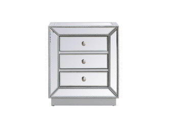 21 inch mirrored chest in antique silver (758 MF53016S)