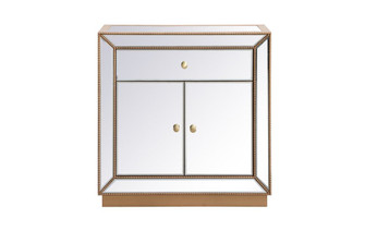 32 inch mirrored chest in antique gold (758 MF53002G)