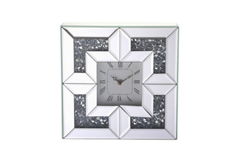 10 inch Square Crystal Wall ClockSilver Royal Cut Crystal (758|MR9207)