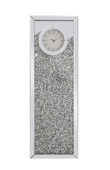 12 inch Rectangle Crystal Wall ClockSilver Royal Cut Crystal (758|MR9206)