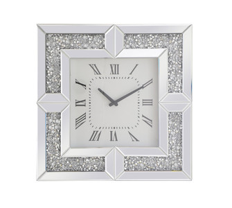 20 inch Square Crystal Wall ClockSilver Royal Cut Crystal (758|MR9208)