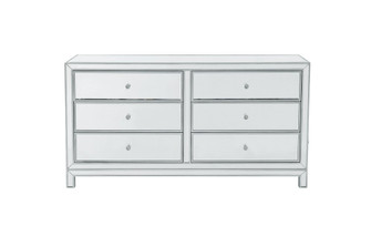 Dresser 6 drawers 60in. W x 18in. D x 32in. H in antique silver paint (758|MF72036)