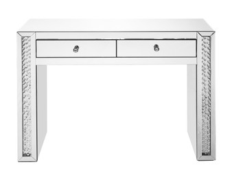 47 inch Rectangle Crystal Vanity Table in Clear Mirror Finish (758|MF91017)