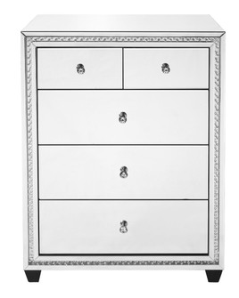31.5 inch Crystal five drawers Cabinet in Clear Mirror Finish (758|MF91013)