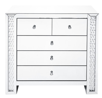 39.5 inch Crystal five drawers Cabinet in Clear Mirror Finish (758|MF91007)