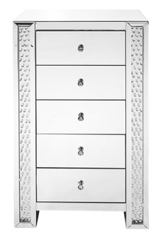 29 inch Crystal five drawers Chest In Clear Mirror Finish (758|MF91005)