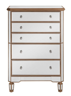 5 Drawer Cabinet 33 in. x 16 in. x 49 in. in Gold paint (758|MF6-1126G)