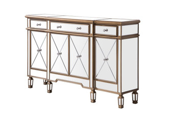 3 Drawer 4 Door Cabinet 60 in. x 14 in. x 36 in. in Gold Clear (758|MF6-1101GC)