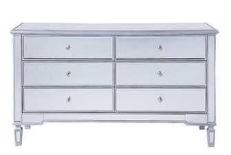 6 drawers cabinet 60 in. x 20 in. x 34 in. in silver paint (758|MF6-1036S)
