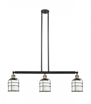 Small Bell Cage 3 Light Island Light (3442|213-BAB-G51-CE-LED)