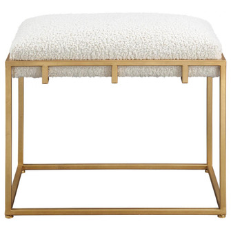 Uttermost Paradox Small Gold & White Shearling Bench (85|23663)